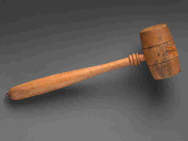 The oldest gavel in the House collection was once used by former speakerNicholas Longworth. Longworth gavel, wood, 1903 - 1931