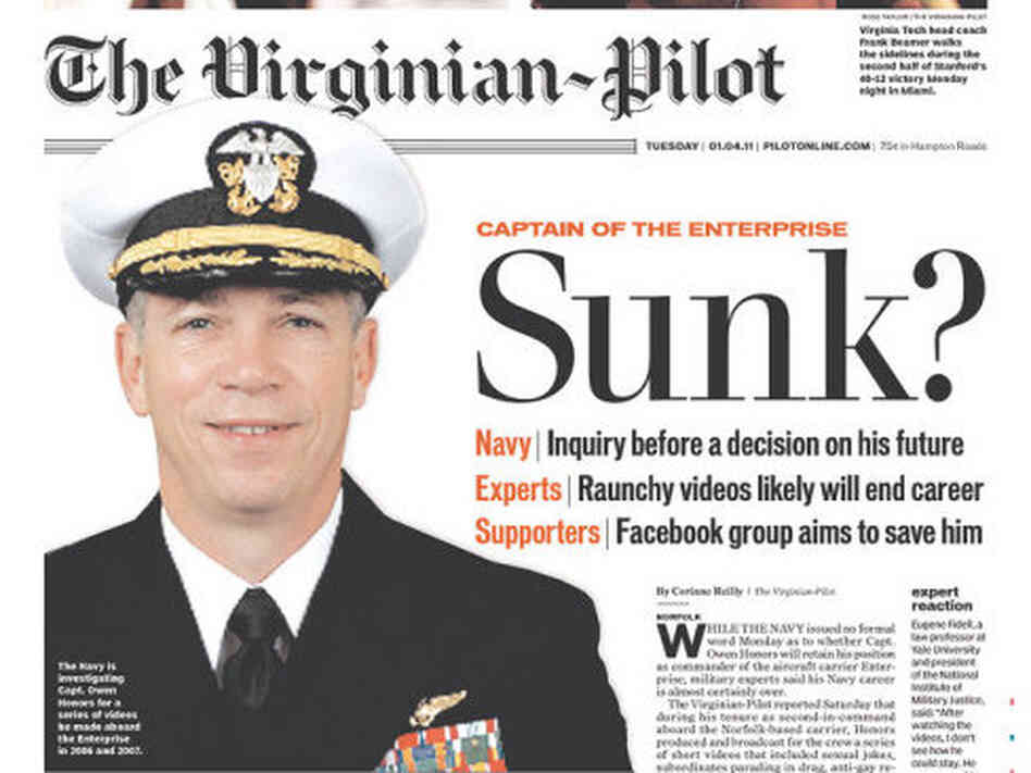 Front page of the Jan. 4, 2010, edition of 'The Virginian-Pilot'.