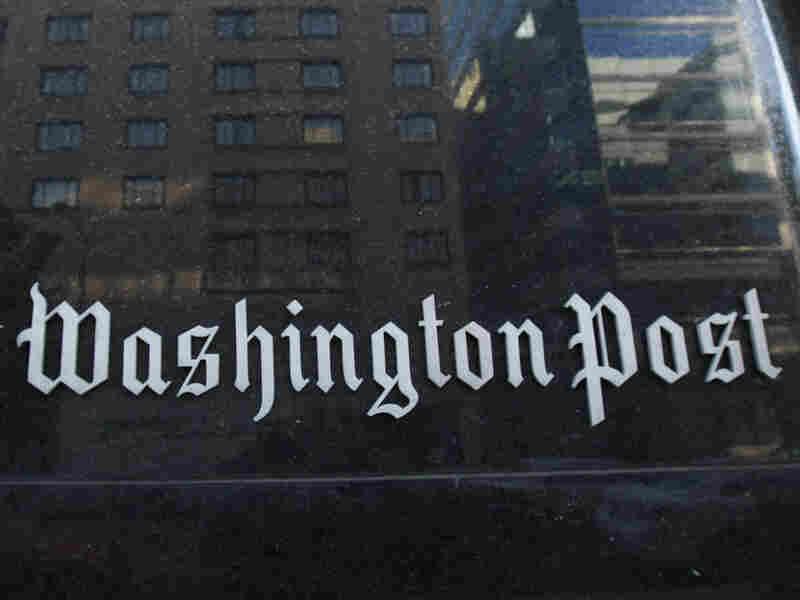 A 'Washington Post' sign