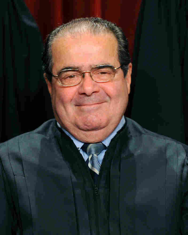 US Supreme Court Associate Justice Antonin Scalia participates in the courts official photo session on October 8, 2010.