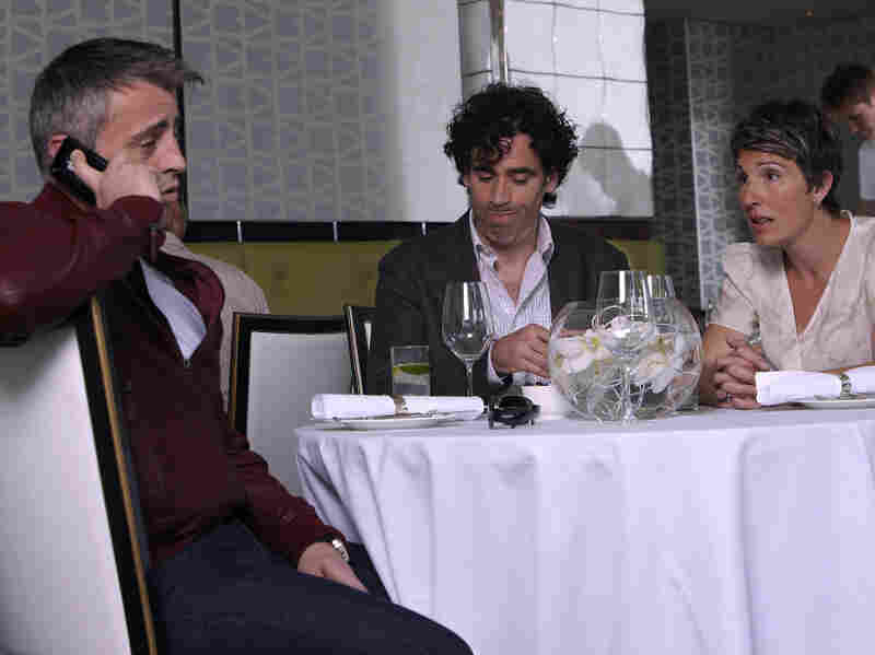Matt LeBlanc (left) plays himself in the new Showtime comedy, Episodes, which also stars Stephen Mangan and Tamsin Grieg as married screenwriters struggling to adapt their British comedy for an American audience.