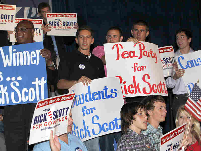 Tea Party conservatives helped Gov. Rick Scotttake the Republican nomination from then-Gov. Charlie Crist.