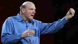 Microsoft CEO Steve Ballmer makes a point at the Consumer Electronics Show.