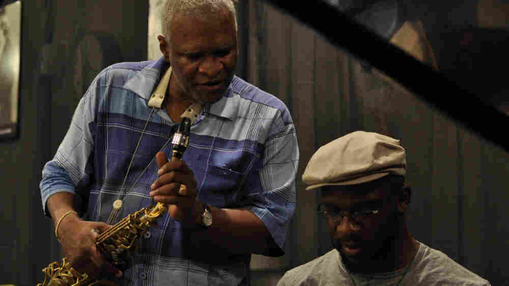 Bobby Watson (left) and Orrin Evans performed live on The Checkout on WBGO.