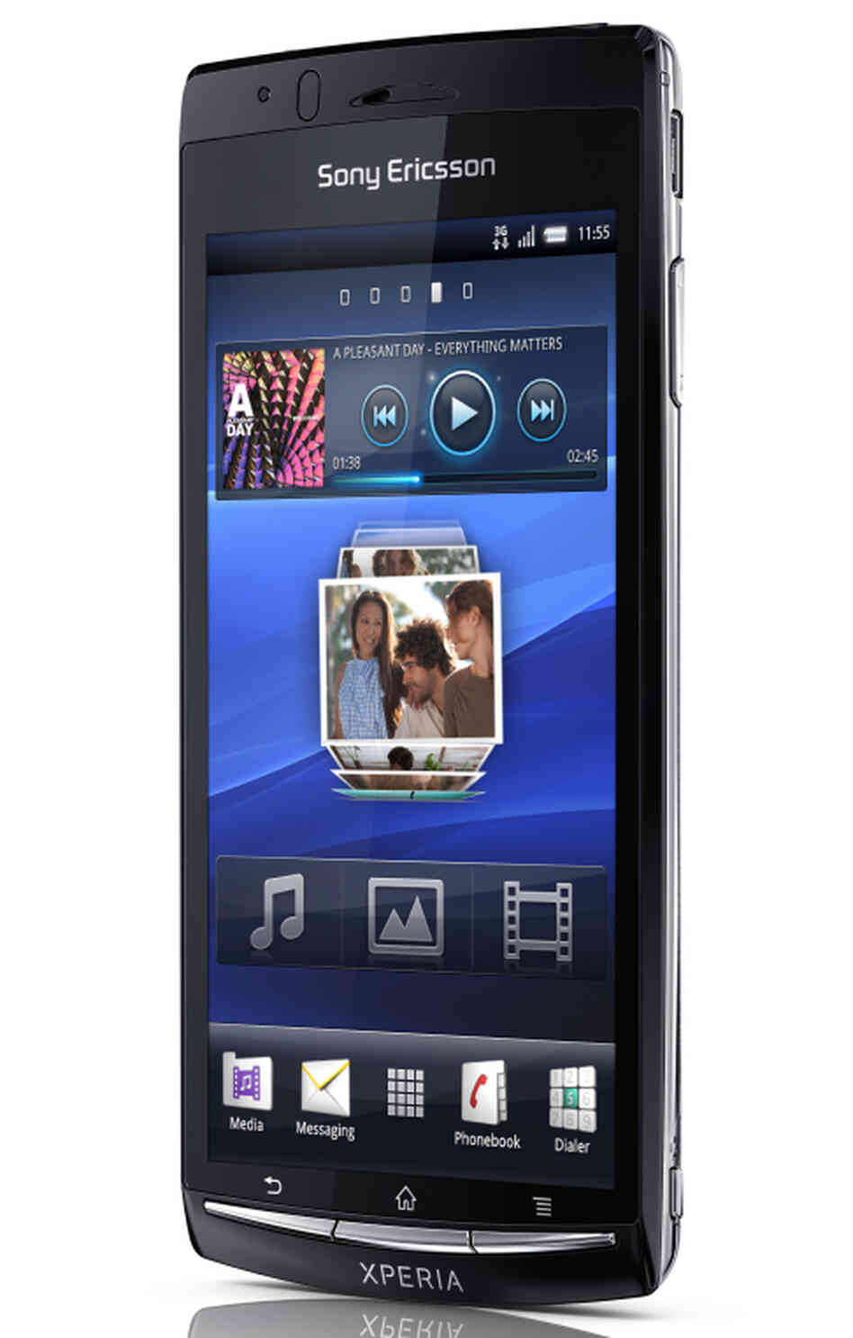 The Sony Ericsson Xperia arc. Android-based smart phone, will connect to your TV and remember where you stopped watching a film.