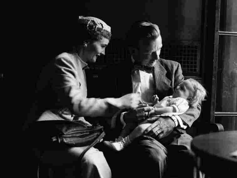 Parents and their child before a tonsillectomy at the Children's Hospital in Philidelphia in the 1950s