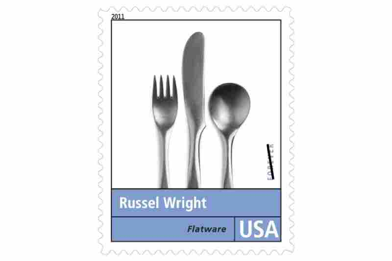 """""""Specializing in household products, Russel Wright revolutionized the way we live at home. ... Each stainless steel piece of Highlight/Pinch flatware featured an organically shaped handle and no applied ornament."""""""
