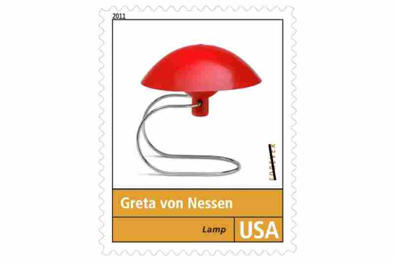 """""""Greta von Nessen specialized solely in lighting, and none of her designs is better known than the 'Anywhere' lamp. Introduced in 1951, the lamp featured a tubular aluminum base and an adjustable shade made of enameled metal."""""""