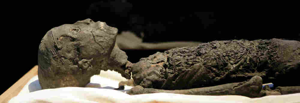 Replica of King Tut's mummy