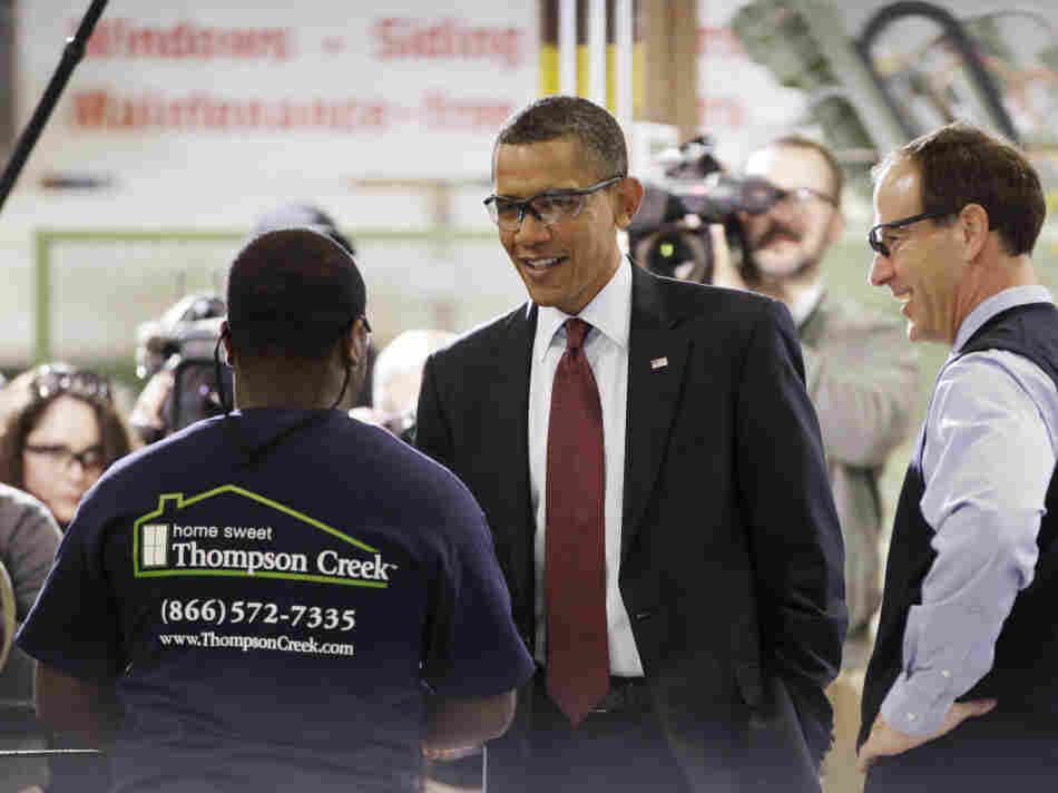 President Obama at a window manufacturing plant in Maryland, Friday, Jan. 7, 2011.