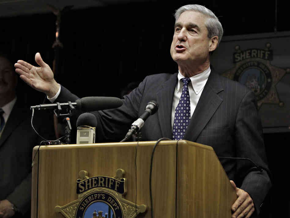 FBI Director Robert S. Mueller III at the Pima County Sheriff's Office Sunday, Jan. 9, 2011 in Tucson, Ariz.