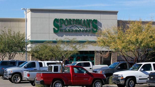 The Sportsman's Warehouse where the Glock 9mm handgun was reported purchased by Jared Lee Loughner who allegedly opened fire outside a Safeway grocery store in Tucson the day before on January 9, 2011. (Getty Images)