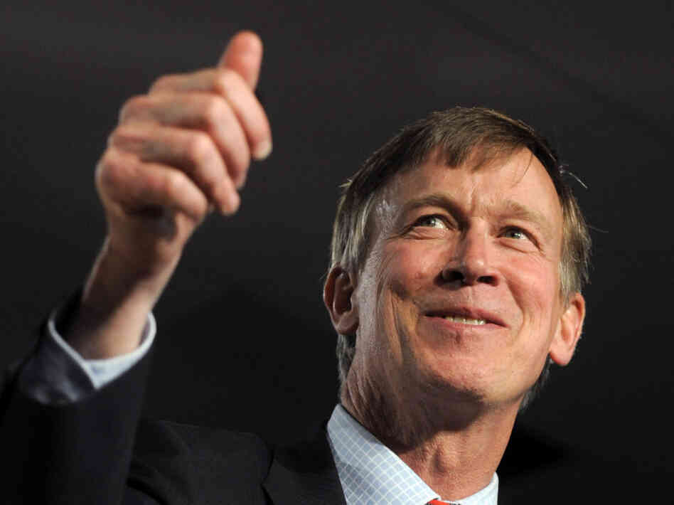Democratic Colorado Gov. John Hickenlooper