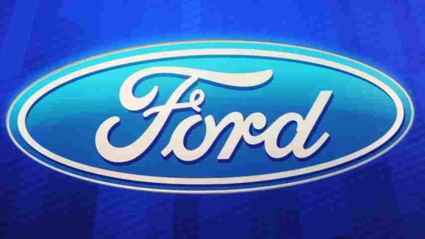 The Ford Motor Company logo is seen during the first press preview day at the 2011 North American International Auto Show, today (Jan. 10, 2011) in Detroit.