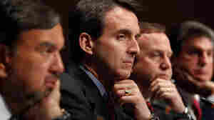 Minnesota Gov. Pawlenty (second from left) and other governors participate in a U.S. Chamber of Commerce summit on job creation.