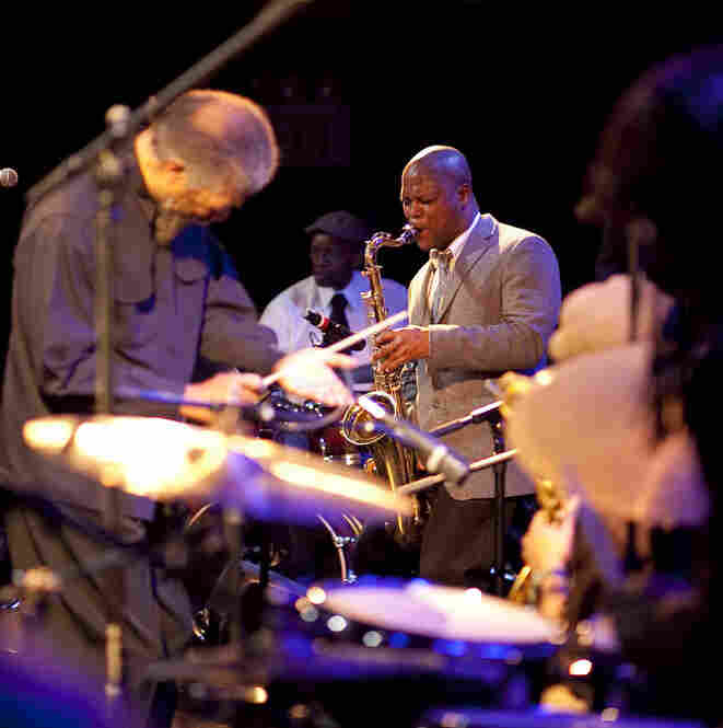 Visionfugitive, with JD Allen on tenor saxophone and Butch Morris conducting.