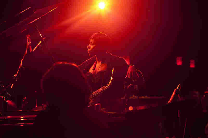 Saxophonist Tia Fuller performed with her working quartet, including her sister Shamie Royston on piano (and her brother-in-law Rudy Royston on drums).