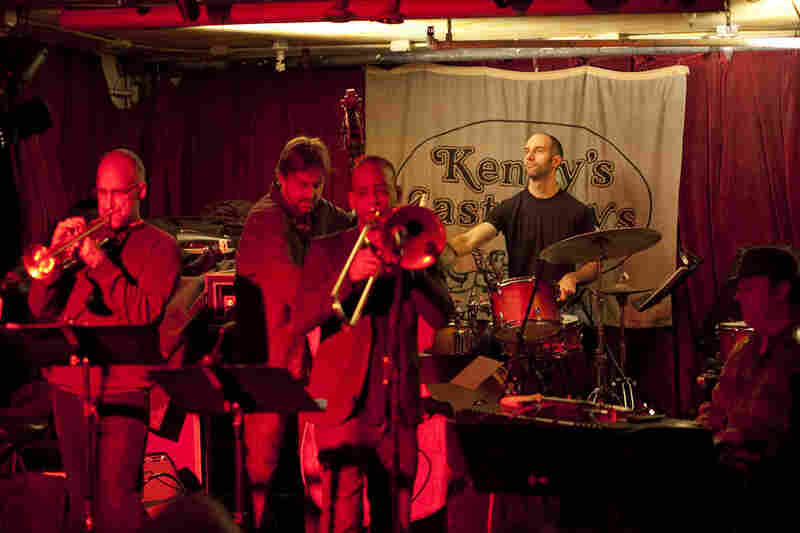 The James Carney Group, led by the pianist, features Mark Ferber on drums, Josh Roseman on trombone, Chris Lightcap on bass and Ralph Alessi on trumpet.