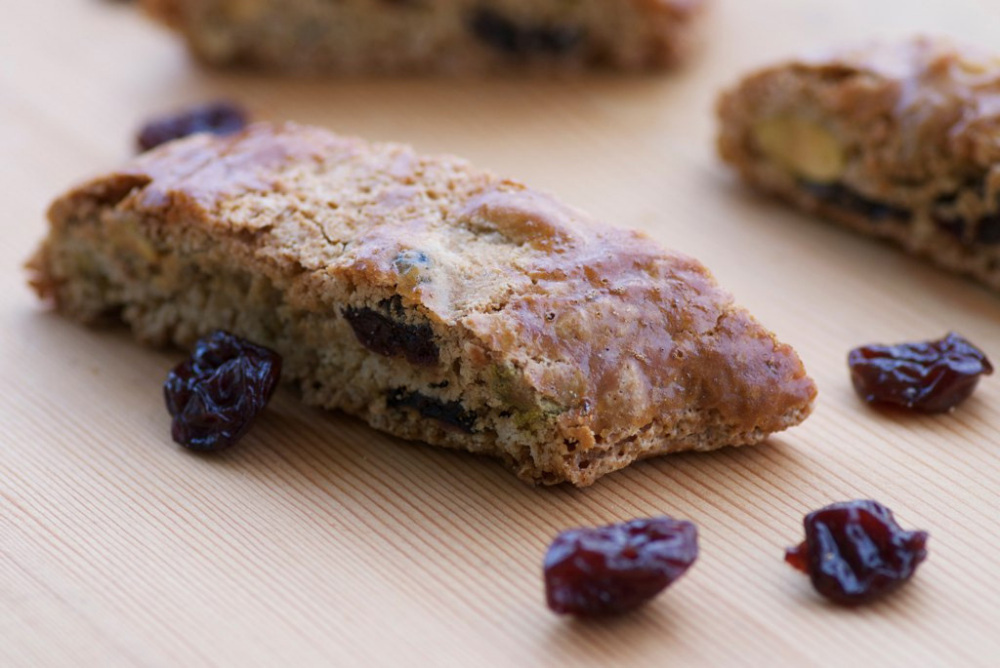 Pistachio And Dried-Cherry Biscotti Recipe — Dishmaps