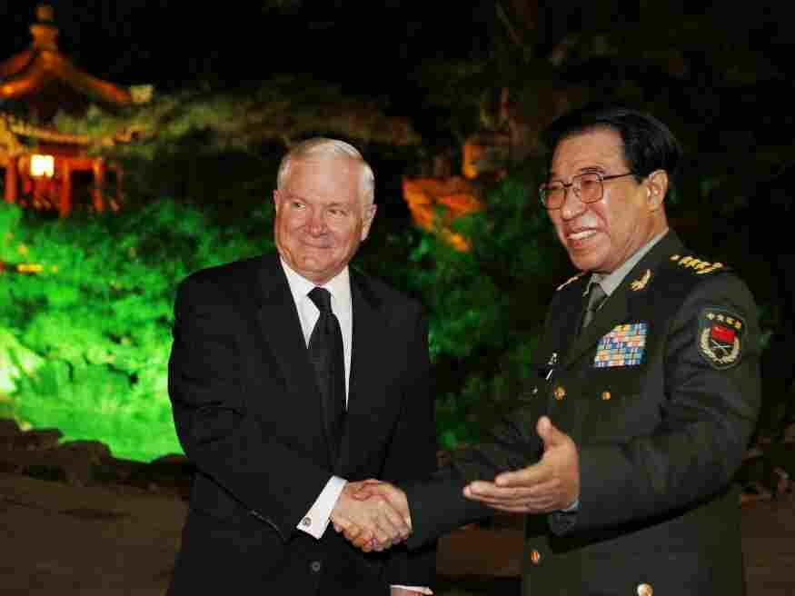 U.S. Defense Secretary Robert Gates and Gen. Xu Caihou, vice chairman of China's Central Military Commission, meet in Beijing on Tuesday. Gates is holding talks with China's political and military leaders during the visit, which comes ahead of a second summit between President Obama and China's President Hu Jintao later this month.