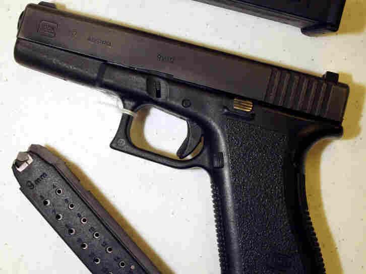 A Glock 9mm pistol.