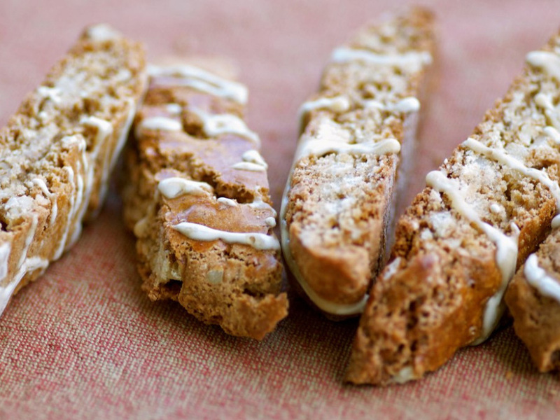 Recipe: Maple Walnut Biscotti With Maple Icing : NPR