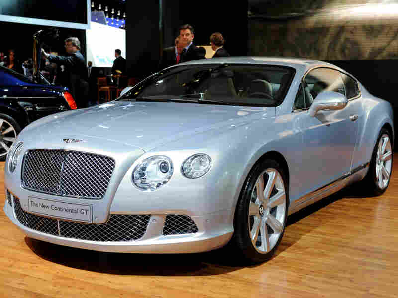 The Bentley Continental GT on display during the North American International Auto Show in Detroit.