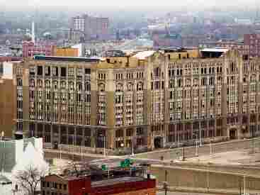 The old Cass Tech High School building in Detroit.