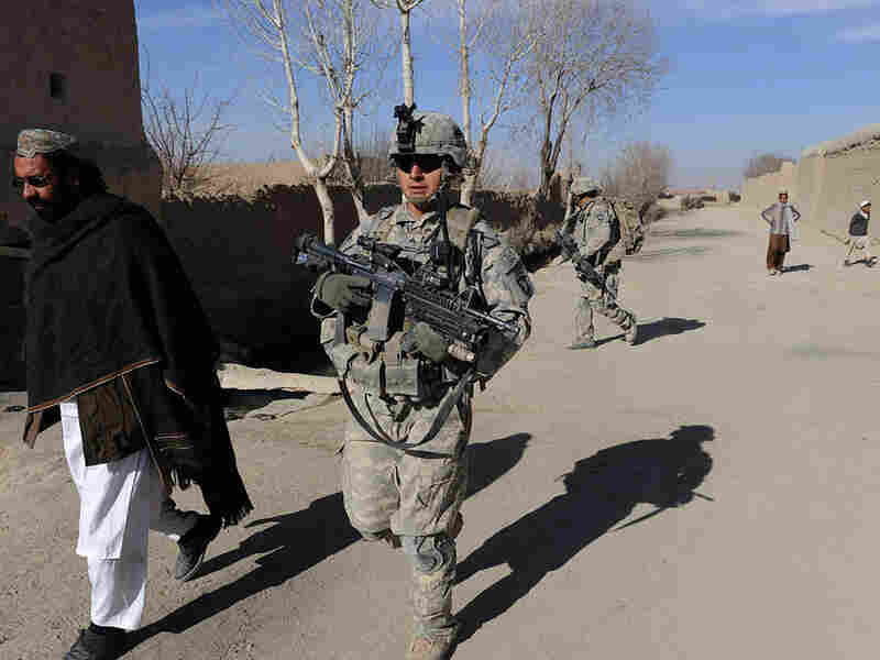 U.S. soldiers of the 3rd Battalion, 187 Infantry, B Company patrol Bangi village, Andar district in Ghazni province, Jan. 6, 2011