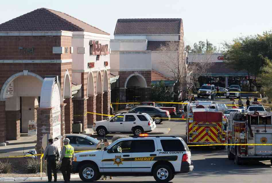 "Jared Loughner is accused of opening fire at a ""Congress on Your Corner"" event being held by Giffords at a Tucson supermarket."