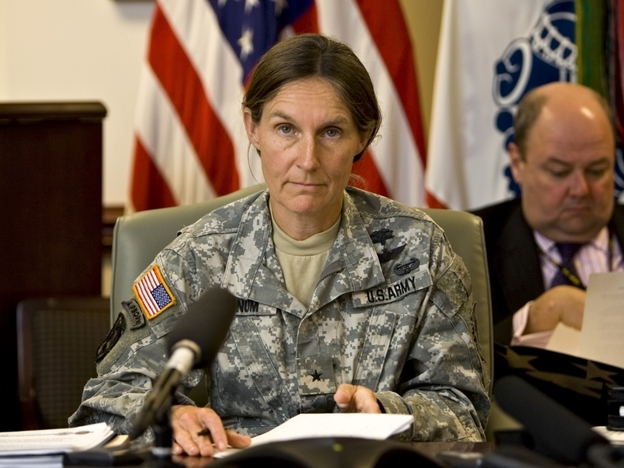 Brig. Gen. Rhonda Cornum, pictured here in 2008, says the Army's spiritual fitness test was developed in part because people who are inclined toward spirituality seem to be more resilient. But she says that nothing about the assessment indicates whether someone is fit to be a soldier.