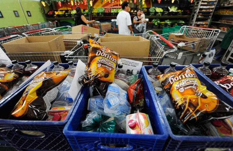 Overburdened Food Banks Can't Say No To Junk : NPR