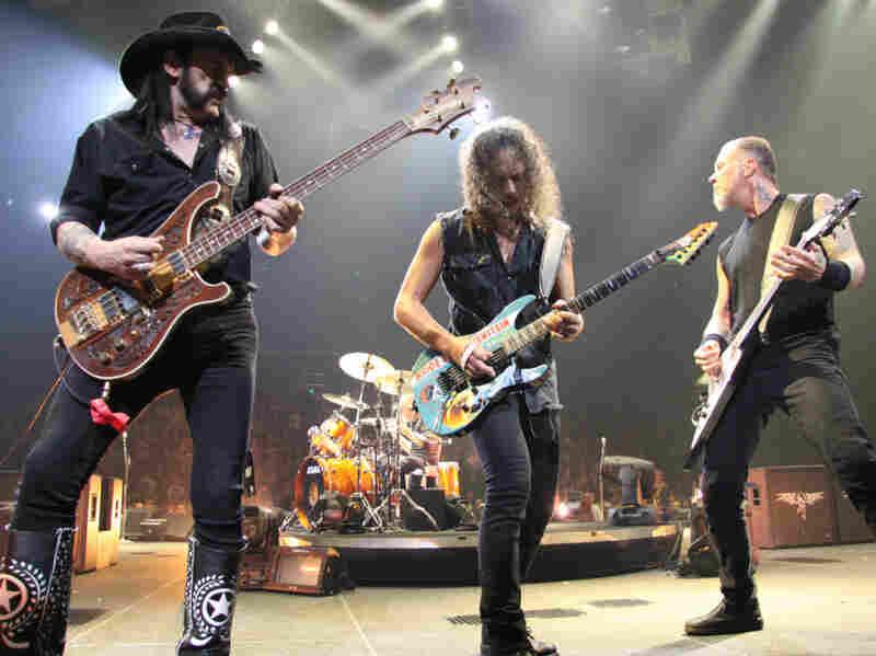 Lemmy Kilmister, Kirk Hammett, James Hetfield