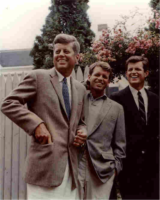 Brothers (from left) John, Robert and Edward Kennedy in Hyannis Port in 1960.