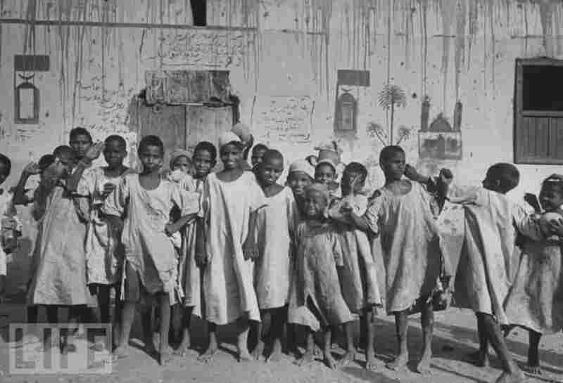 Sudan gained its independence in 1956. Here, children pose for the camera in an undisclosed location.