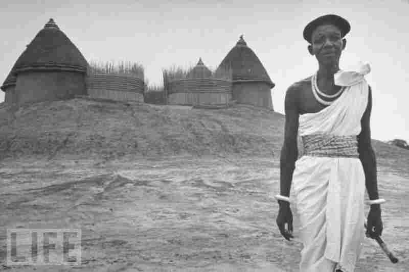 Elisofon captured a Sudan that was destined to be transformed and, in some fundamental ways, would never be the same. Here pictured is a Shilluk tribal king wearing a European beret and silk cumberbund acquired in trade.