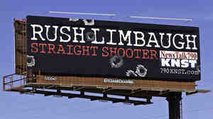 A billboard for Rush Limbaugh's show in Tucson.