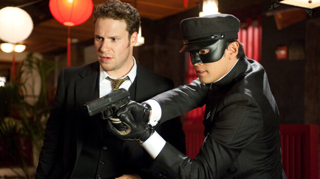 Seth Rogen (left) and Jay Chou star in the Columbia Pictures action film The Green Hornet.