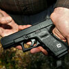 A file photo of a Glock 19, the type of weapon that authorities say was used in the Jan. 8 shootings in Tucson.