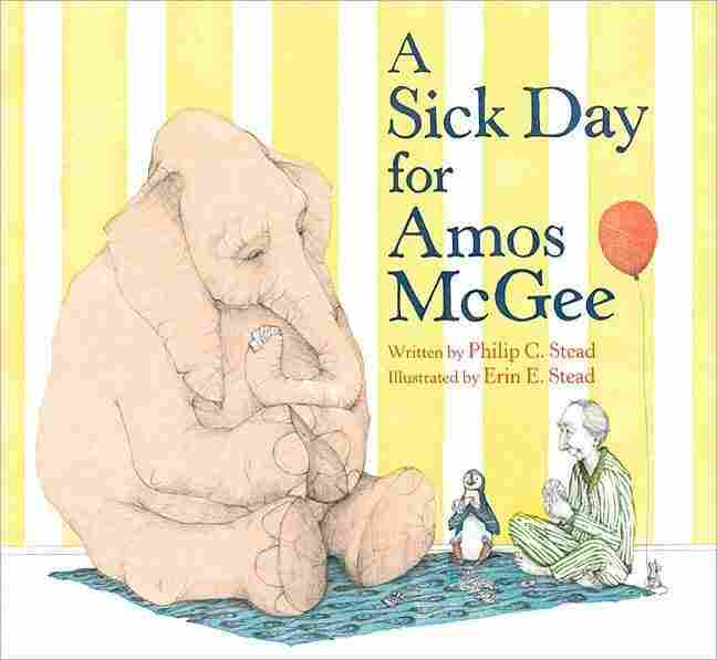 The cover of A Sick Day For Amos McGee.