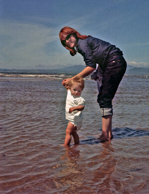 Nancy Harmon Jenkins and her daughter Sara, together in Spain in 1966.