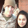 Lance Cpl. Josh Apsey with his wife, Carolyn.