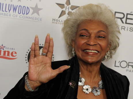 "Actress Nichelle Nichols -- ""Lt. Uhura"" -- at the Kodak Theater in Hollywood on Nov. 3, 2010."
