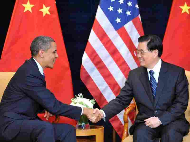 President Obama shakes hands with Chinese President Hu Jintao in Seoul last November. The two leaders will meet again in Washington, D.C., next week.