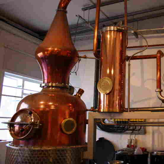 Sipsmith's handmade, copper-pot still is named Prudence. It's the first copper gin still to be licensed in London since 1820.