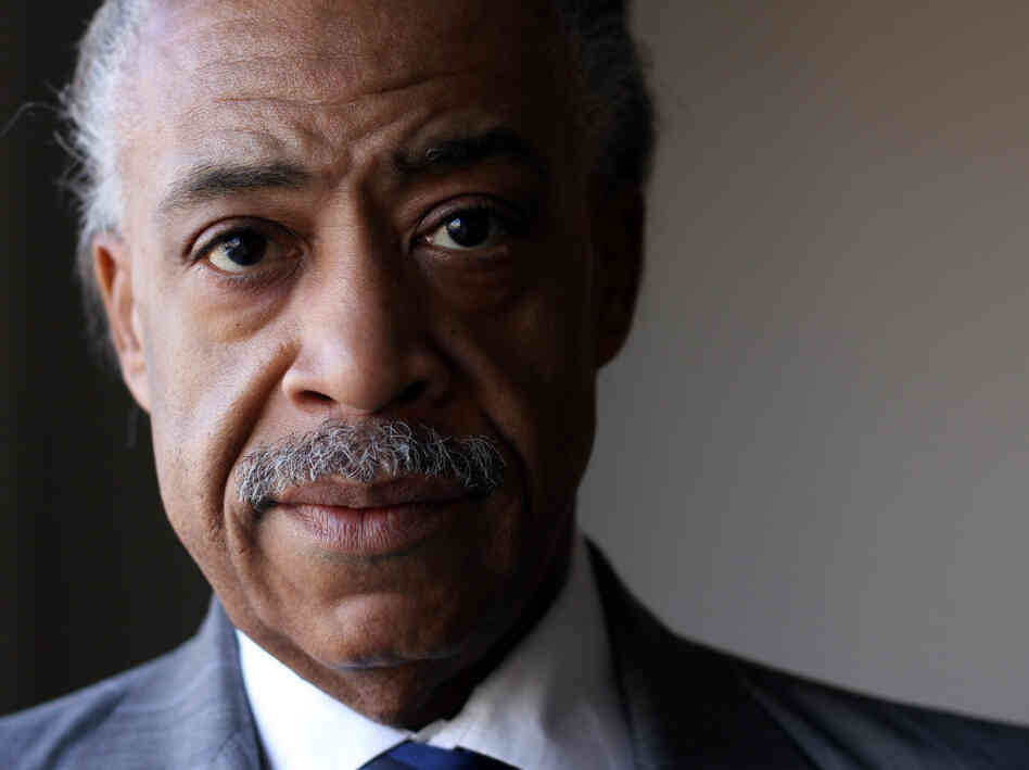 Al Sharpton at NPR headquarters in Washington, D.C. on Jan.14, 2011.