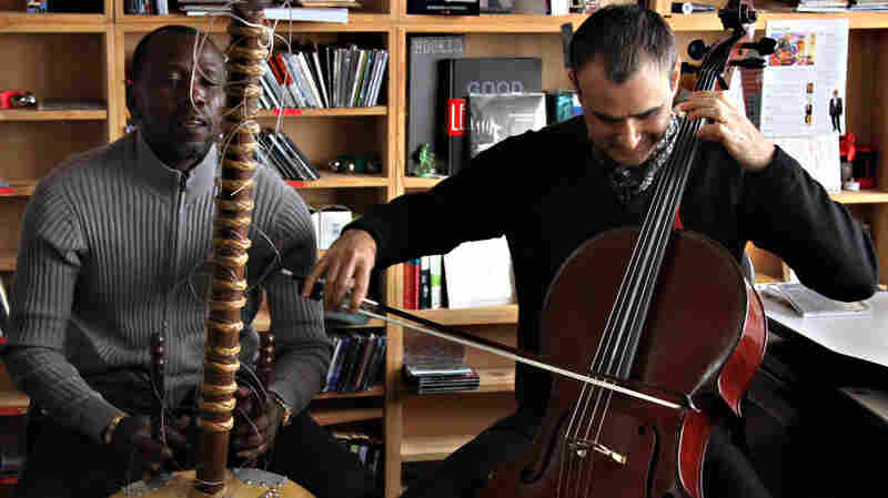 Ballake Sissoko and Vincent Segal perform a Tiny Desk Concert at the NPR Music offices.
