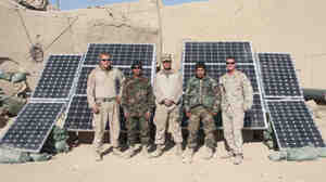Solar panels like this modified ZeroBase Regenerator can provide power for more than 17 computers and 15 lighting units, according to Marines who tested the equipment in Afghanistan.