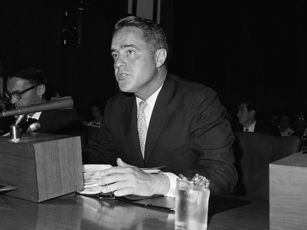 R. Sargent Shriver at a Senate hearing in 1965.