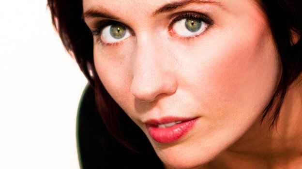 A close up of Nicole Mermer's eyes.